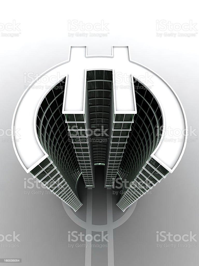 Euro building royalty-free stock photo