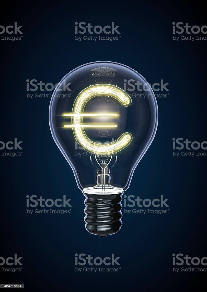 Euro bulb stock photo