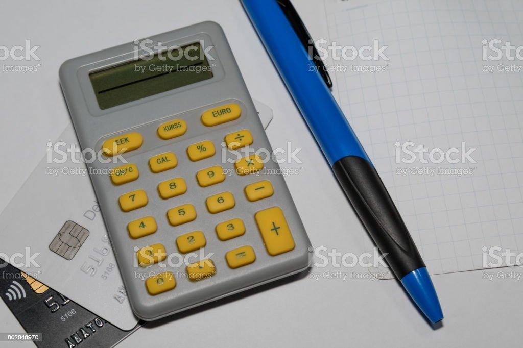 Euro calculator stock photo