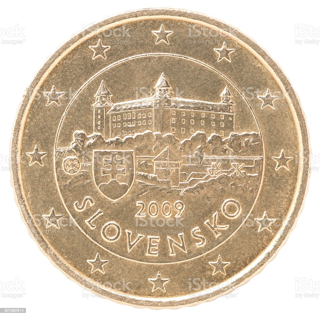 euro cent coin stock photo
