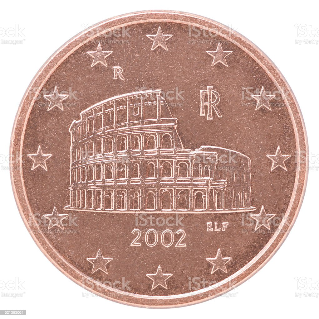 euro cent coin stock photo