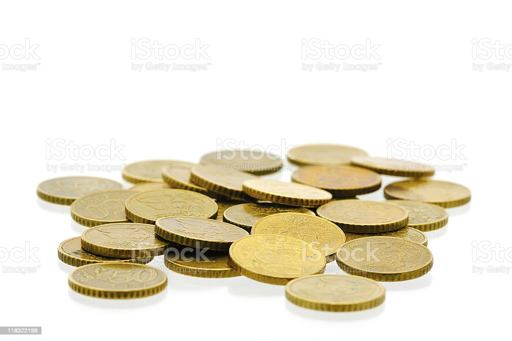 50 euro cent coins royalty-free stock photo