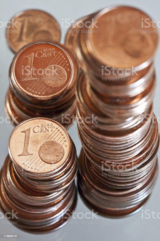 Cêntimos de Euro foto de stock royalty-free