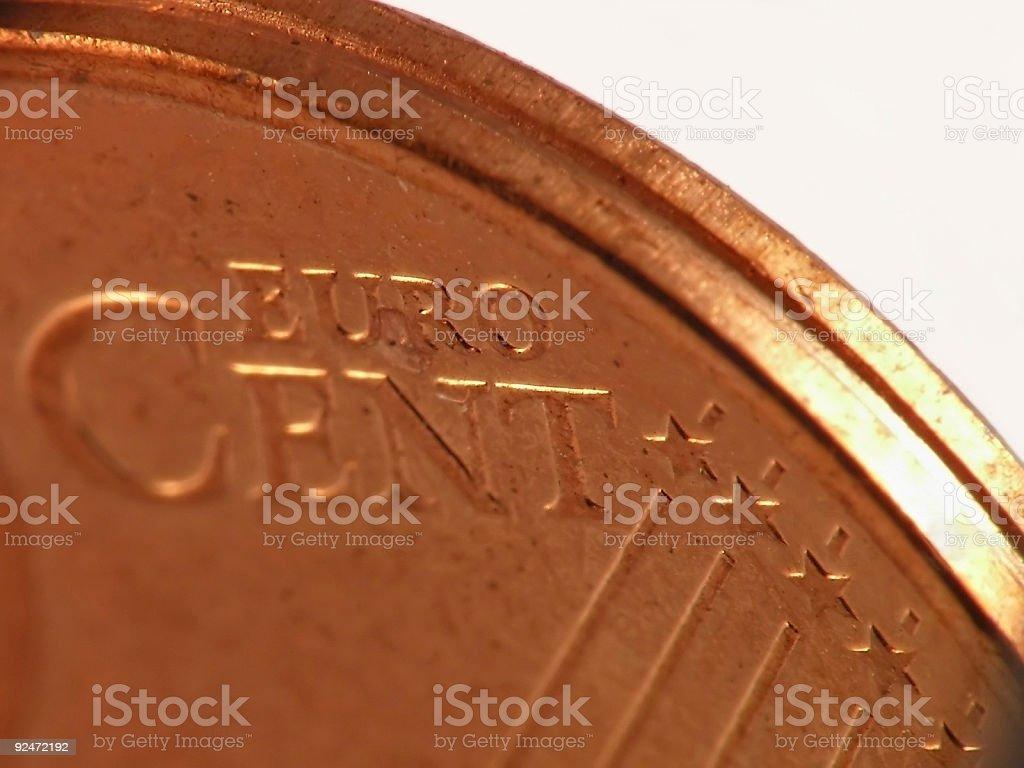 euro cent stock photo