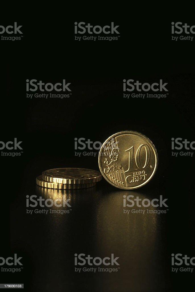 Euro Cents royalty-free stock photo