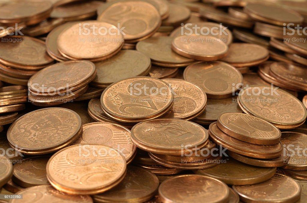 Euro cents stock photo