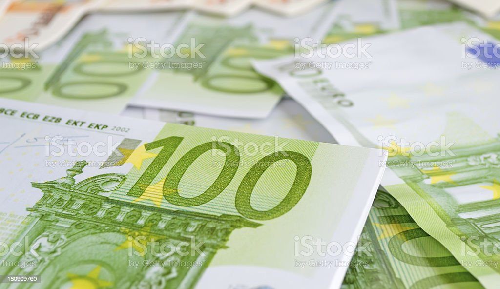 euro closeup royalty-free stock photo