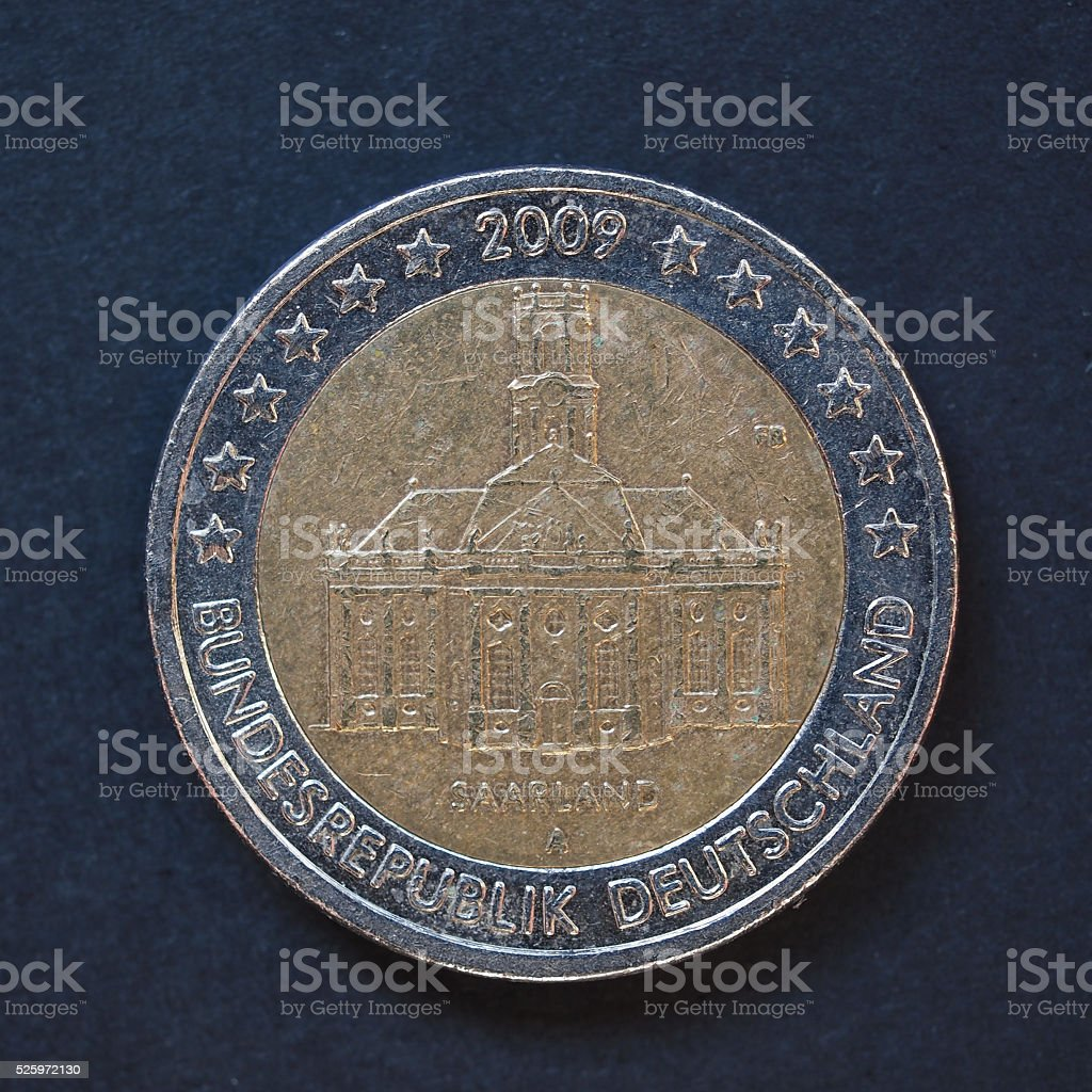 2 Euro coin from Germany stock photo