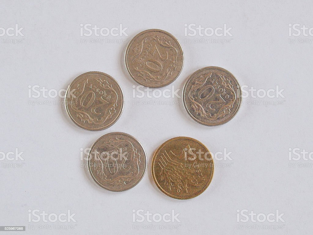 Euro coin from Vatican stock photo