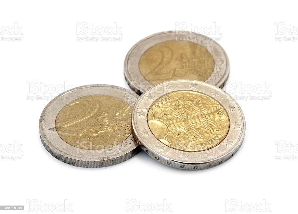 euro coin isolated royalty-free stock photo