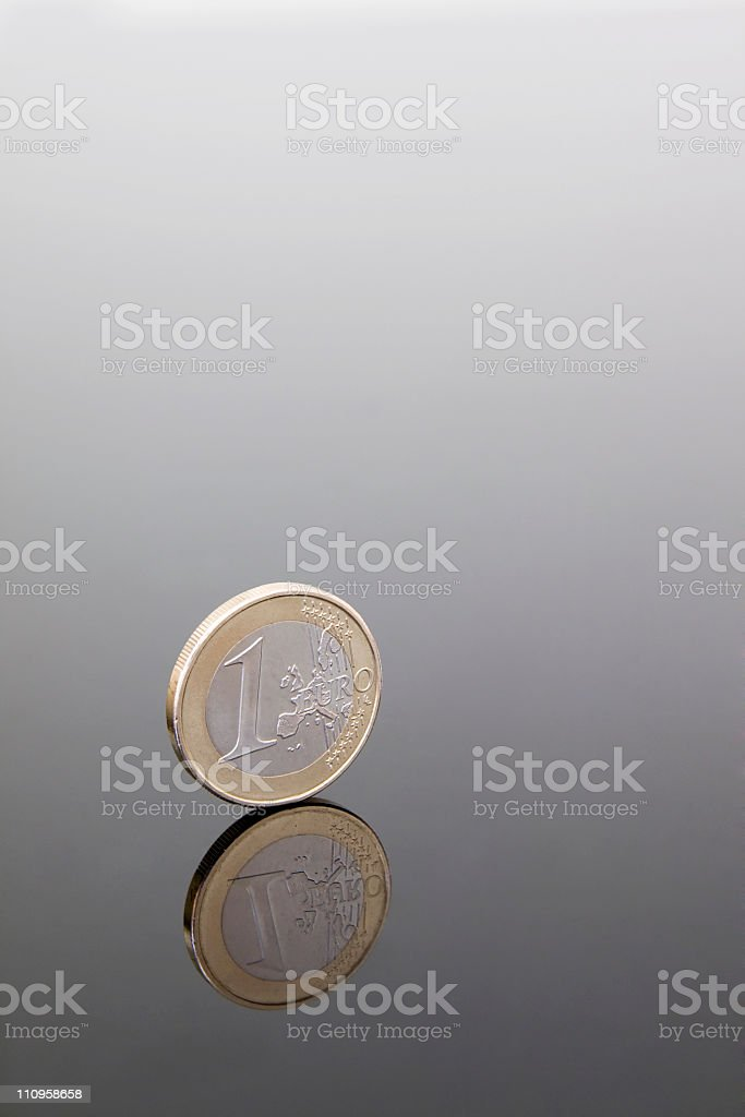 euro coin royalty-free stock photo