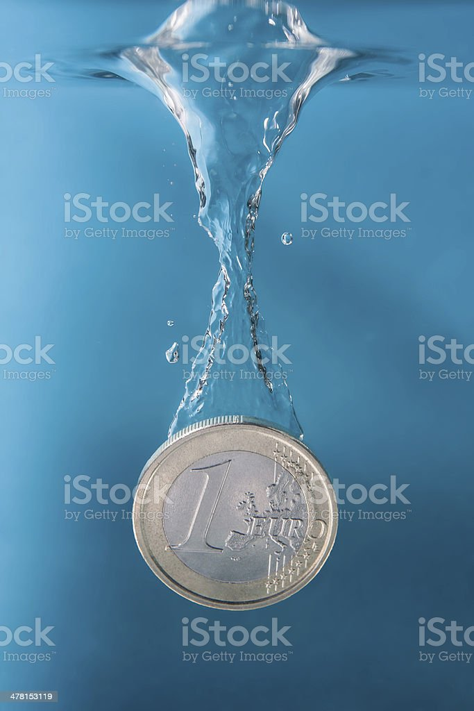Euro Coin stock photo