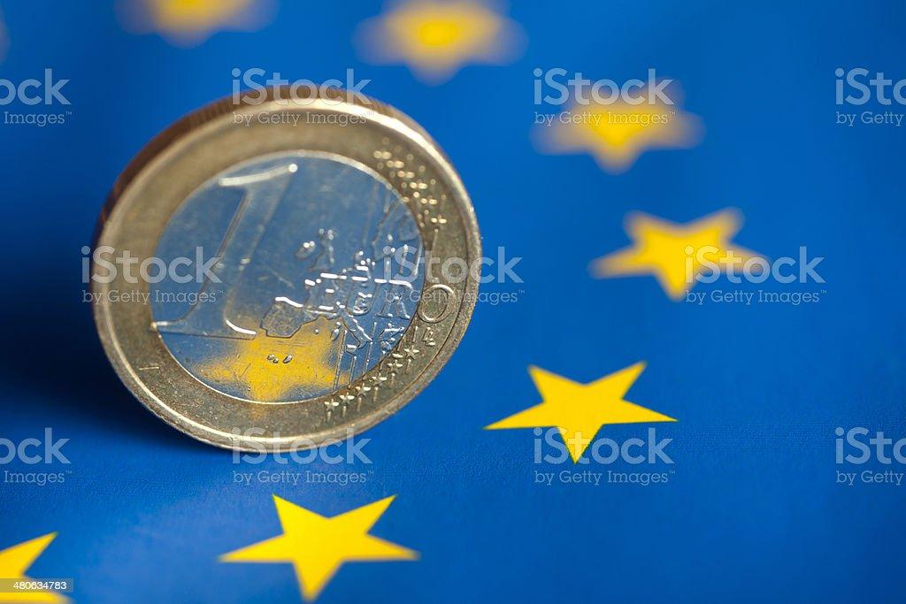 Euro coin. stock photo