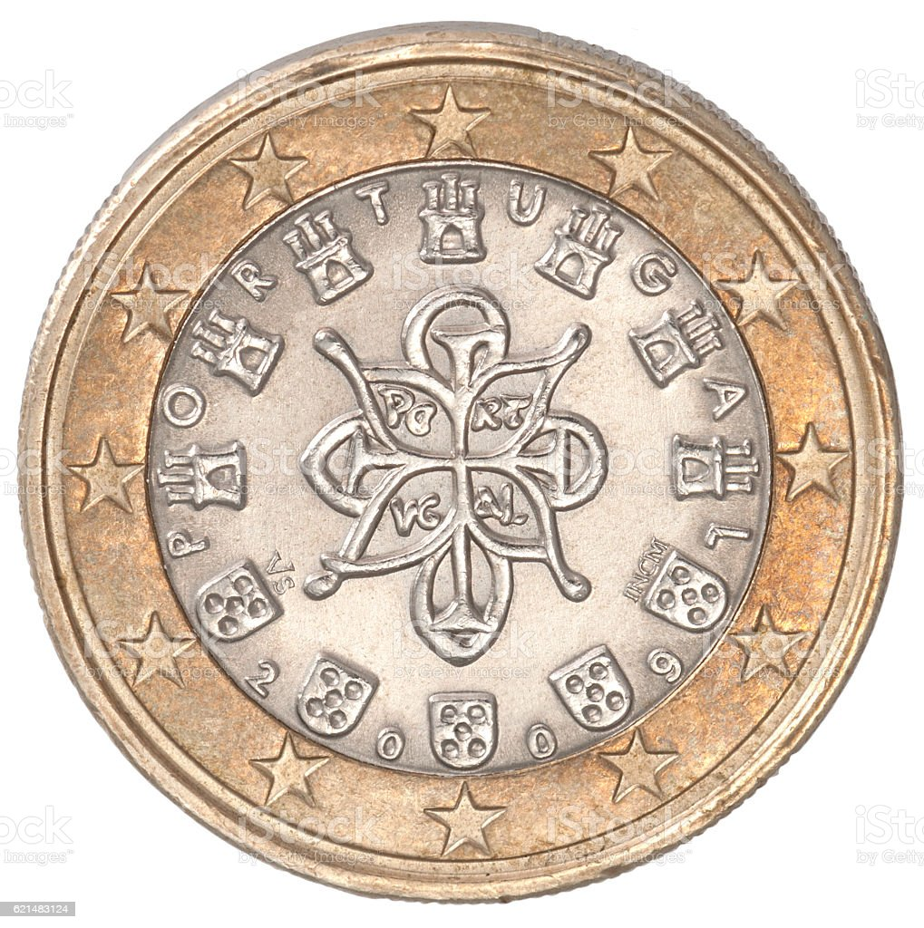 1 euro coin stock photo