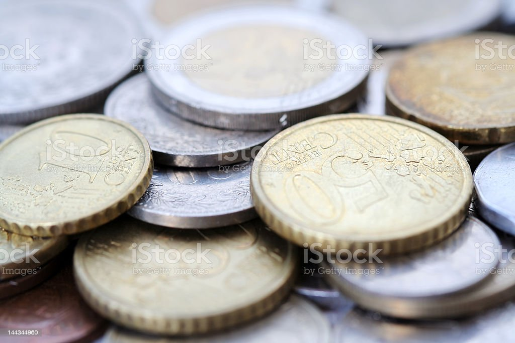 Euro Coins at heap royalty-free stock photo