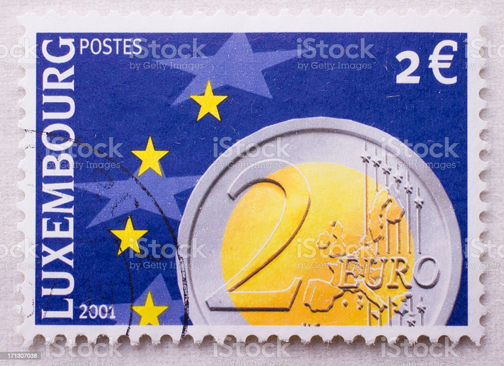 Euro coins entered circulation royalty-free stock photo