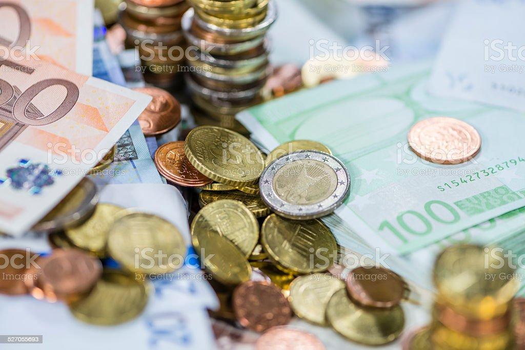 Euro Coins (close-up shot) stock photo