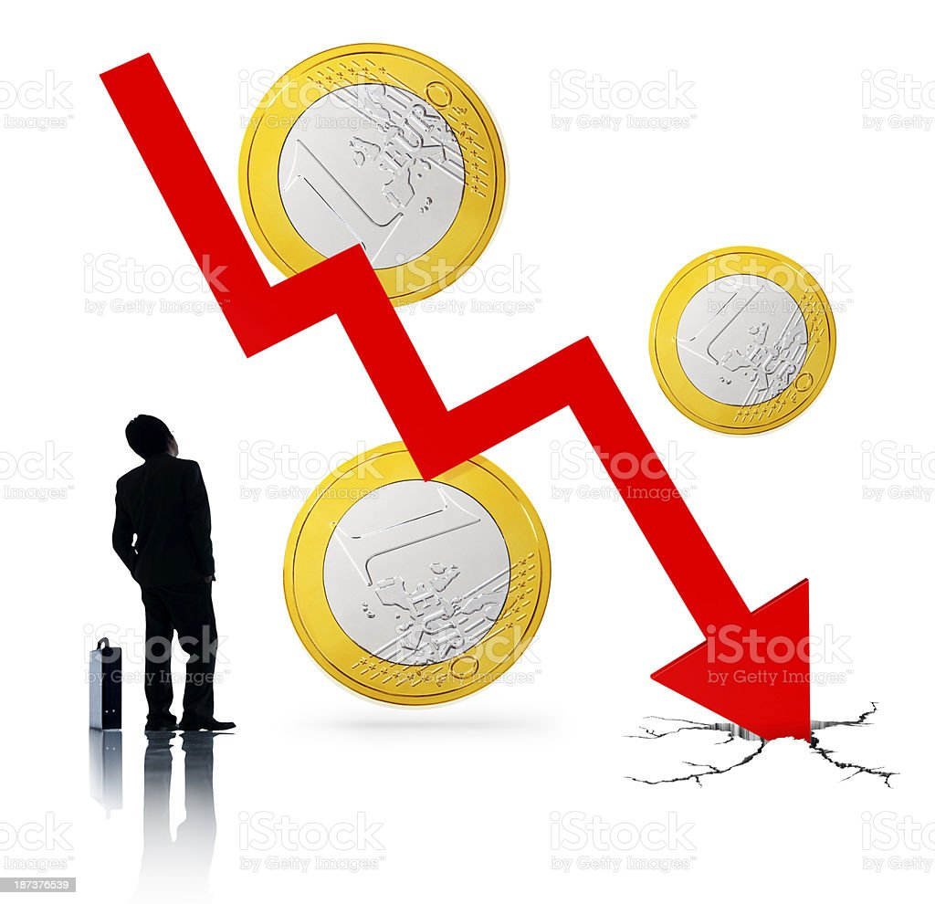 Euro Collapsing royalty-free stock photo