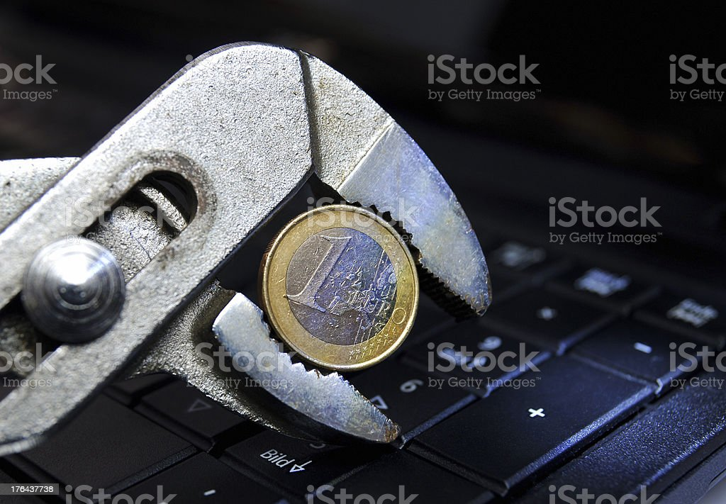 Euro Crisis royalty-free stock photo