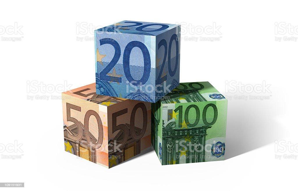 euro cubes 6 royalty-free stock photo