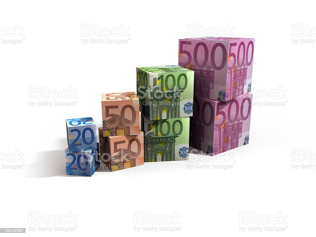 euro cubes 9 royalty-free stock photo