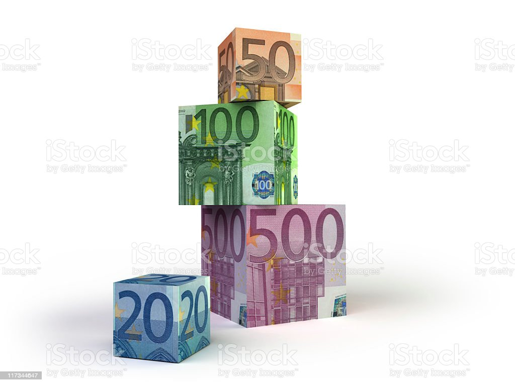 euro cubes royalty-free stock photo