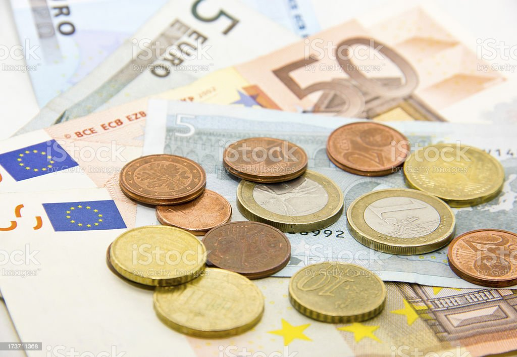 Euro currencies stock photo