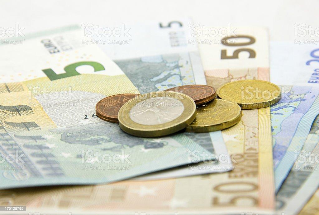 Euro currencies stock photo