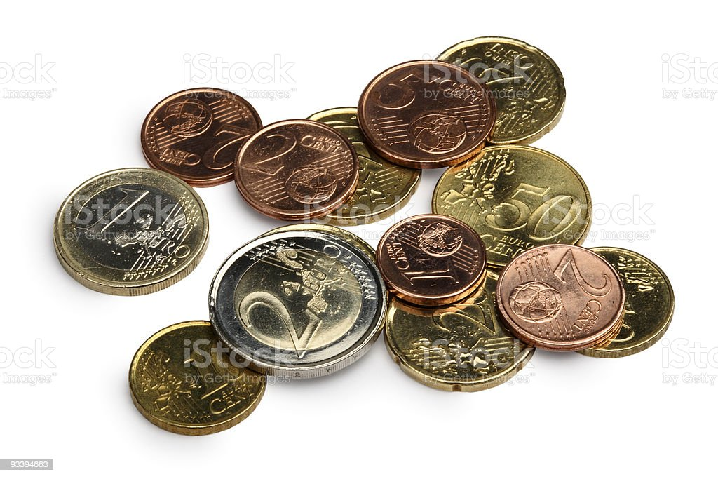 Euro currencies royalty-free stock photo