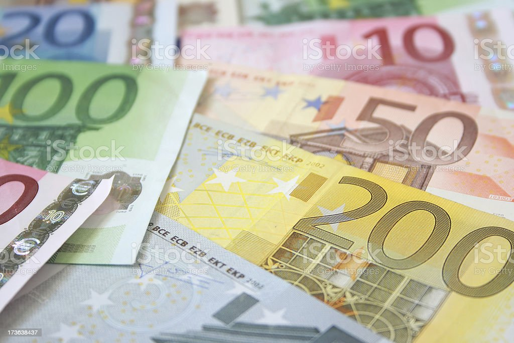 Euro Currency Background royalty-free stock photo