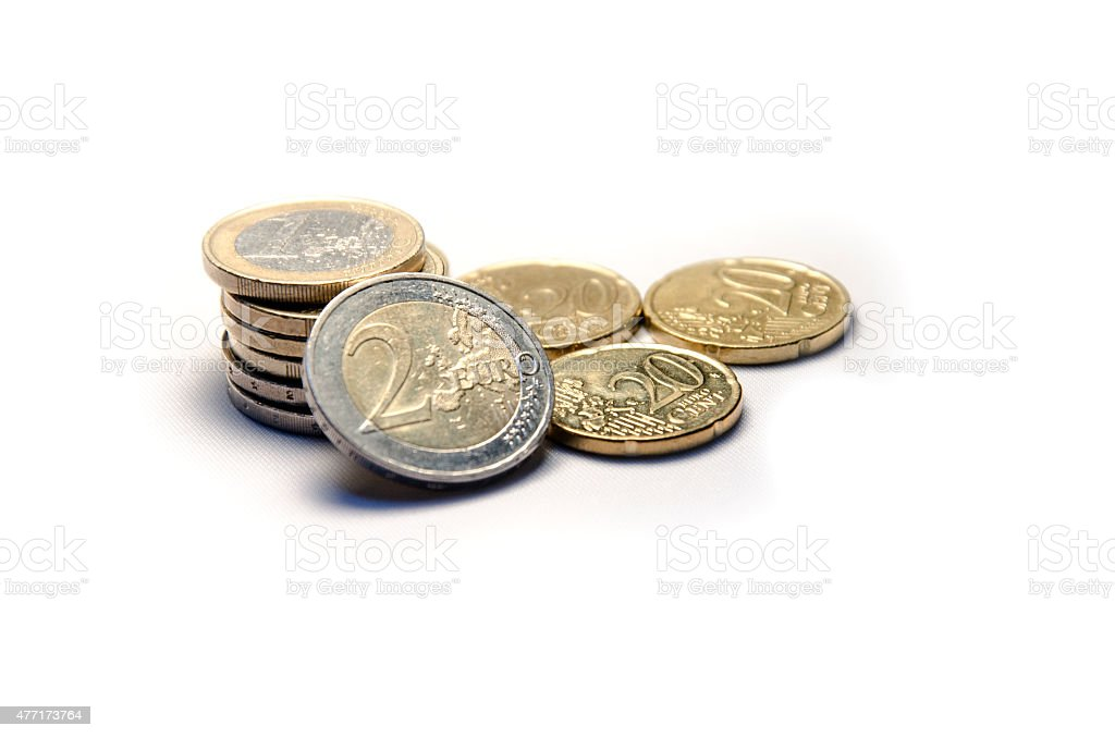 Euro Currency Coins Pile stock photo