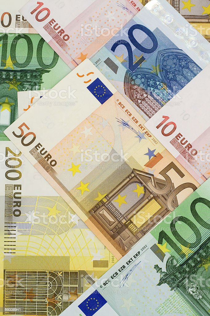 Euro currency collage royalty-free stock photo