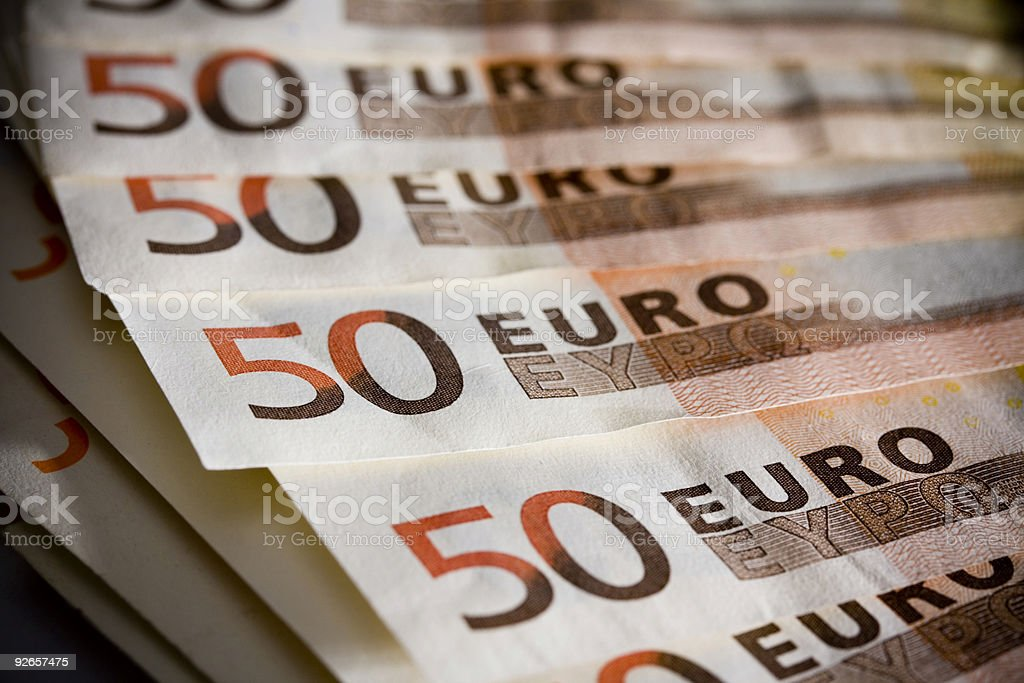 Euro Currency Spread royalty-free stock photo