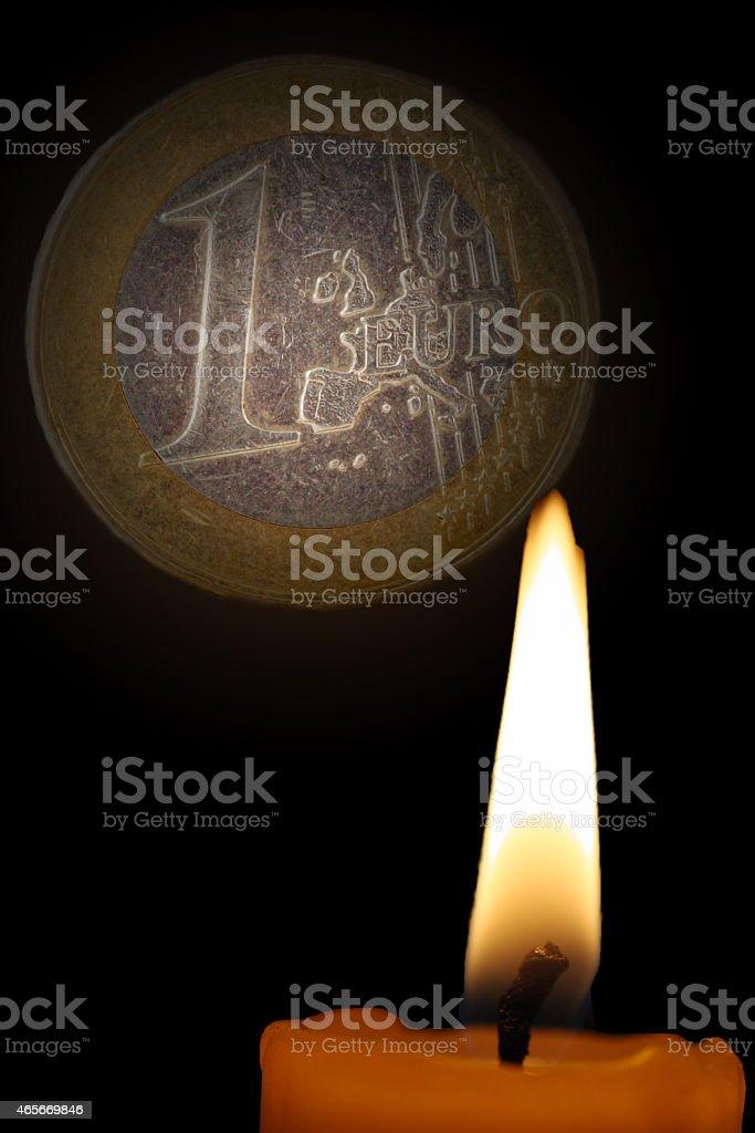 euro darking stock photo