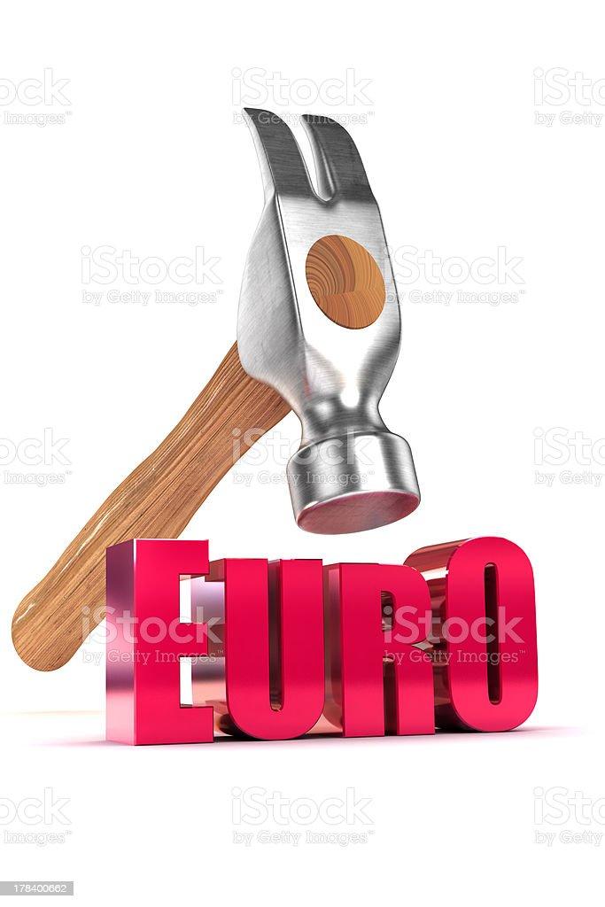 Euro Debt Concept stock photo