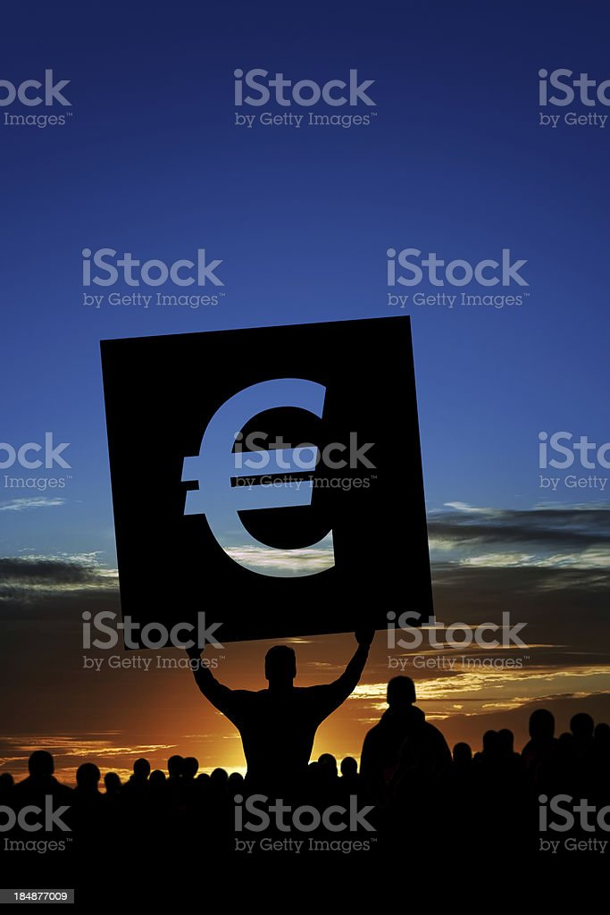 XXXL euro debt crisis protestors stock photo