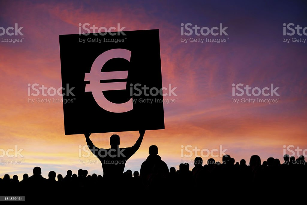 XXXL euro debt crisis protestors royalty-free stock photo