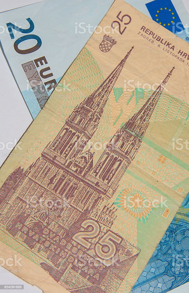 Euro - Dinar - Better Before or After stock photo