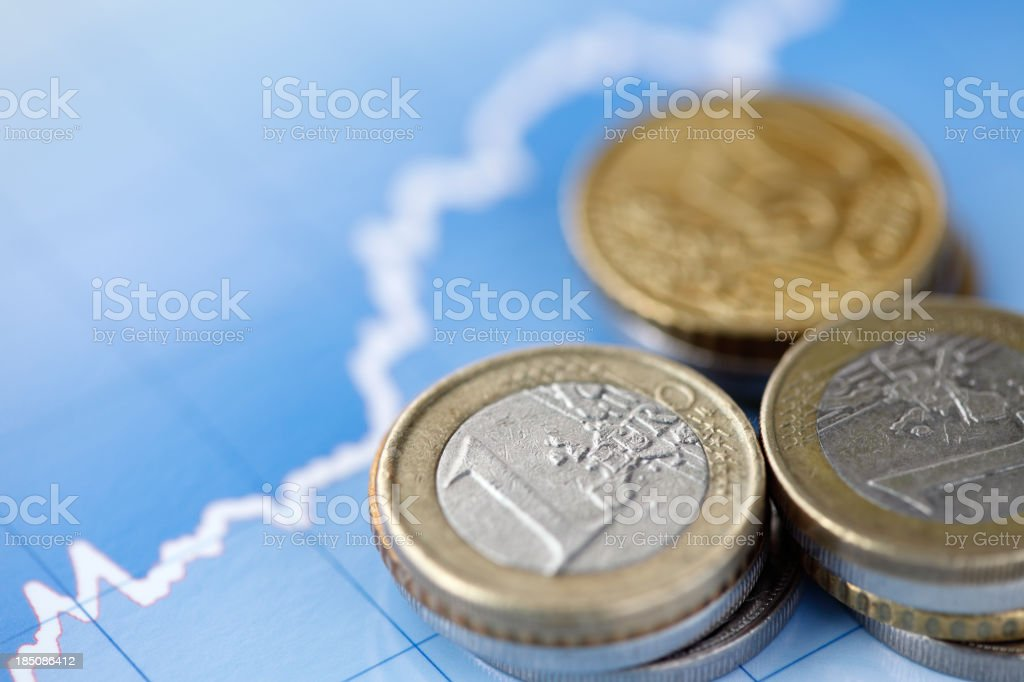 Euro exchange rate stock photo