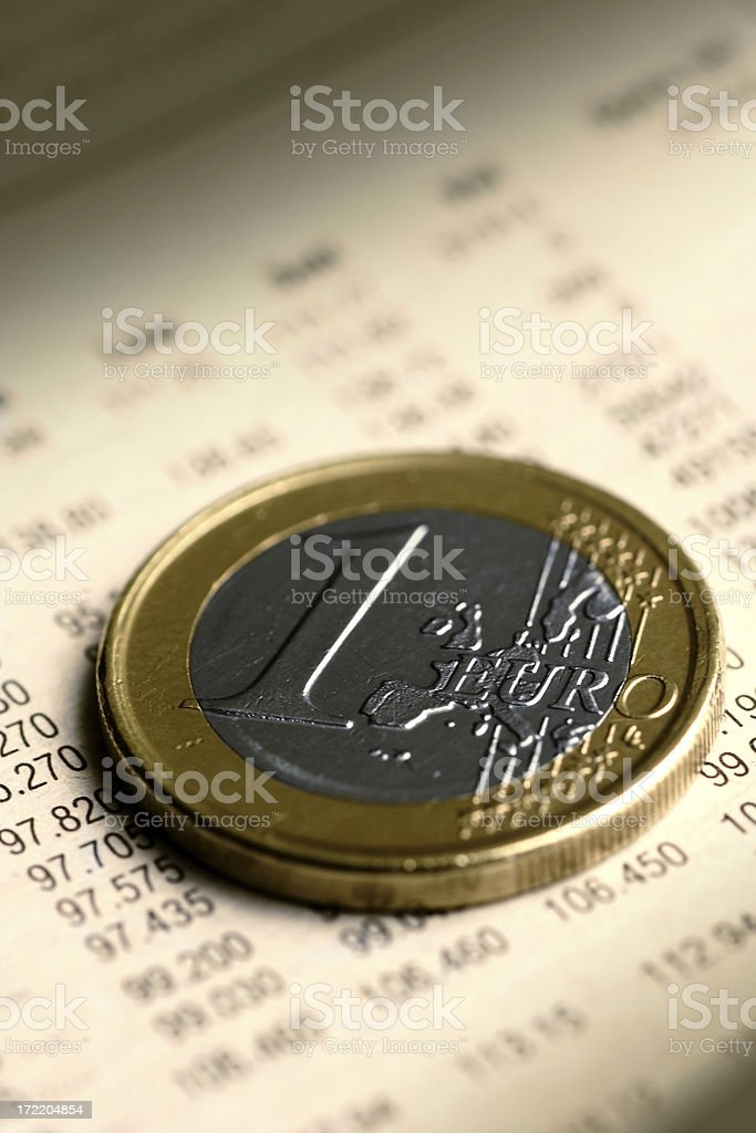 Euro Finance royalty-free stock photo