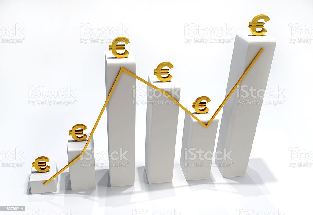 Euro Finance Statistic 3D royalty-free stock photo