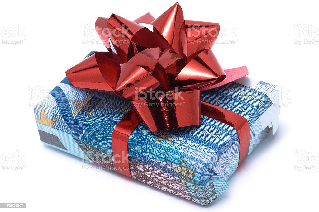 Euro gift stock photo