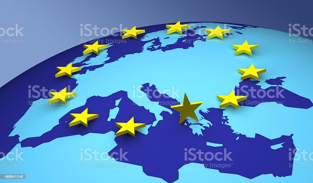 Euro Greece Crisis stock photo