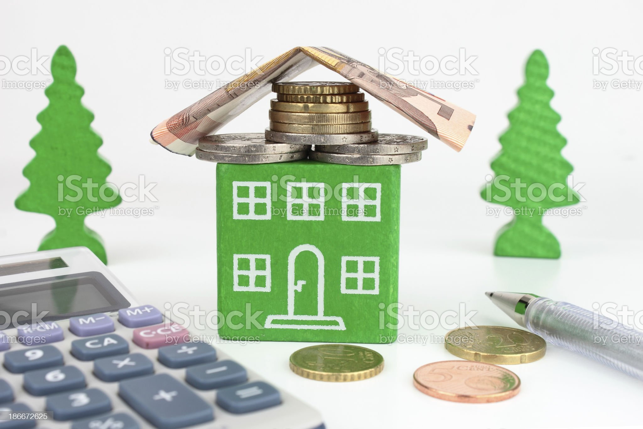 Euro Green Home royalty-free stock photo