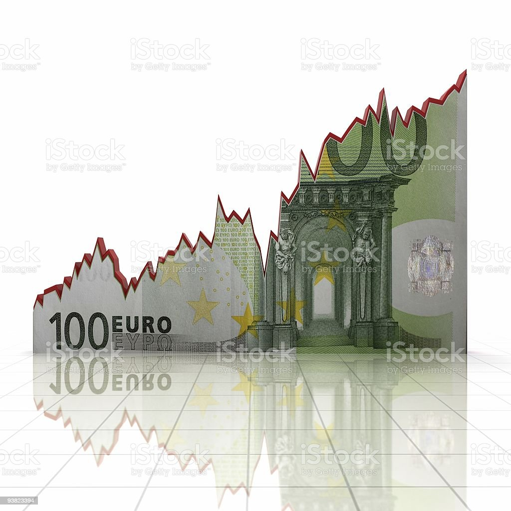 Euro Growth Chart royalty-free stock photo