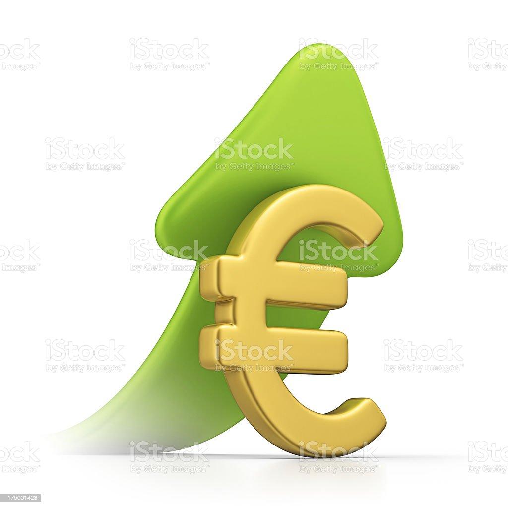 euro growth royalty-free stock photo