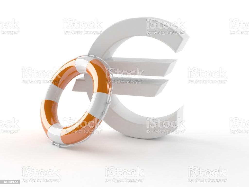 Euro help royalty-free stock photo