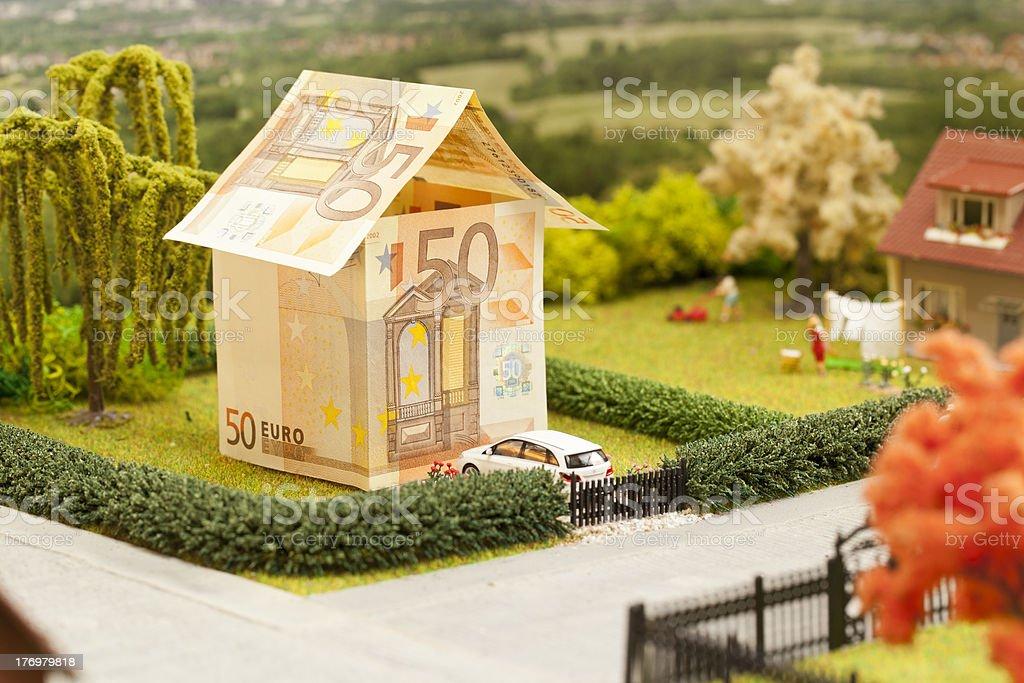 Euro house scenery royalty-free stock photo