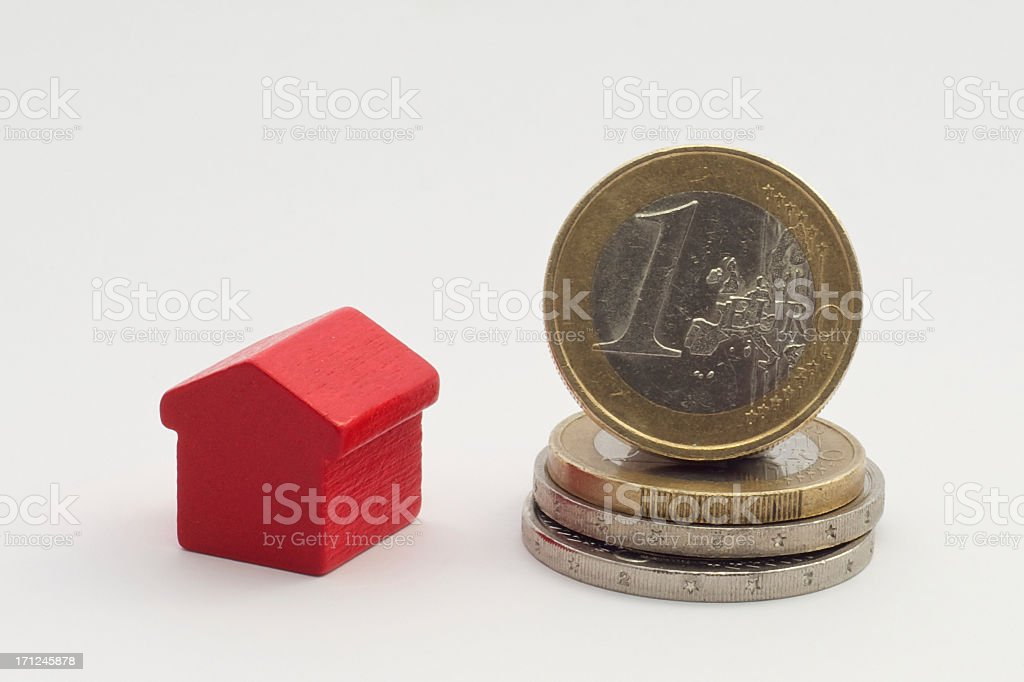 Euro housing royalty-free stock photo