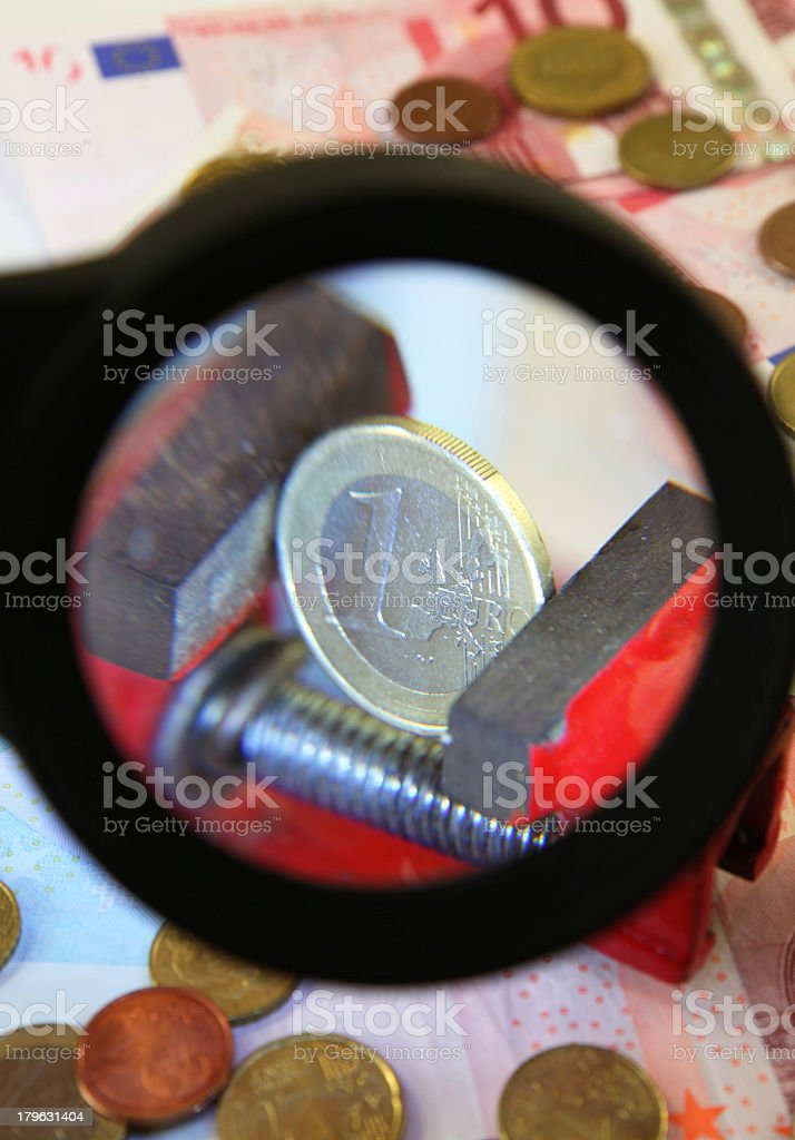 Euro in the Clamp royalty-free stock photo